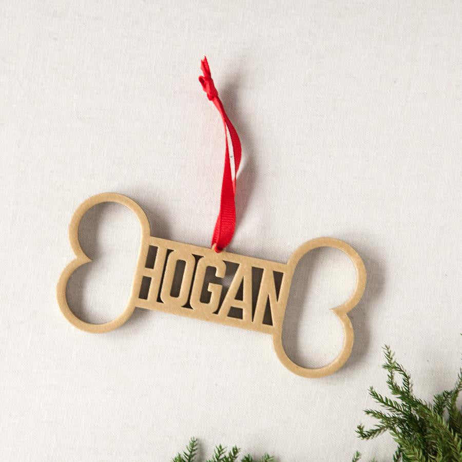 Laser Cut Personalized Dog Bone Ornament