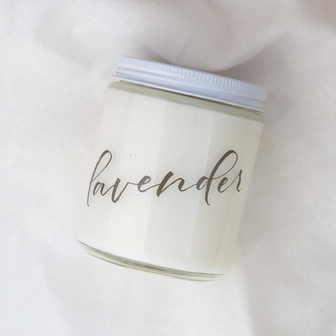 hand poured all natural soy candle, lavender candles, small batch organic candles