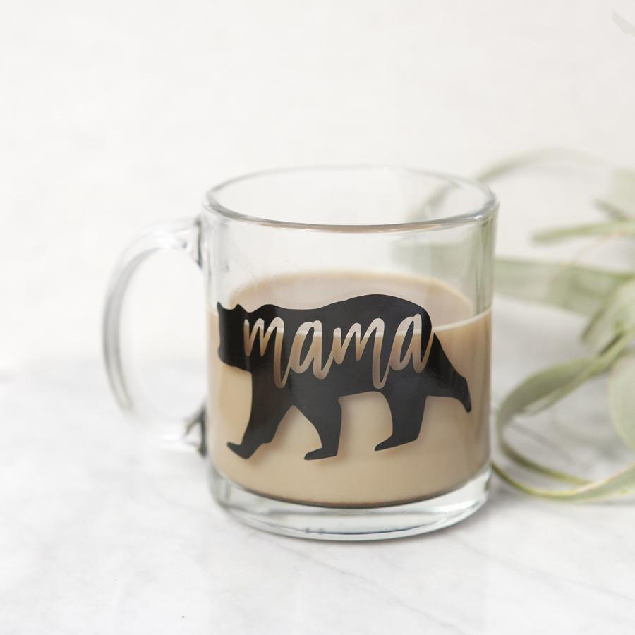 Mama Bear Glass Mug