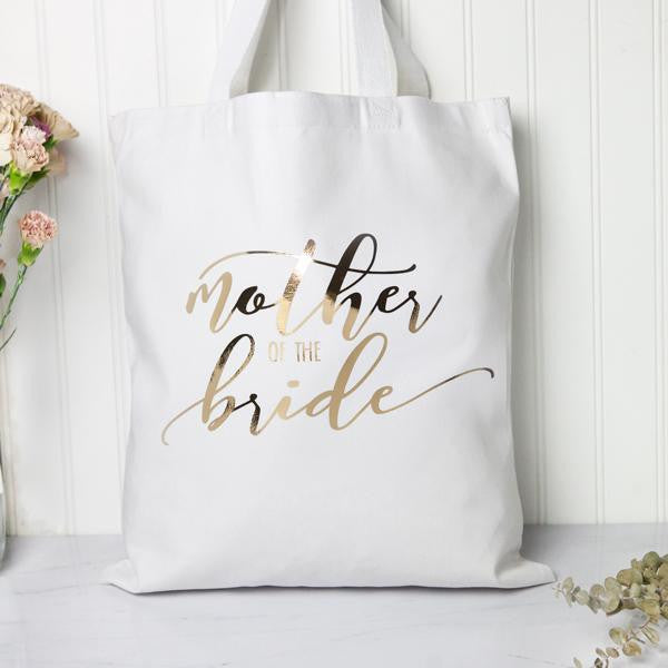 Metallic Bridal Party Tote Bags