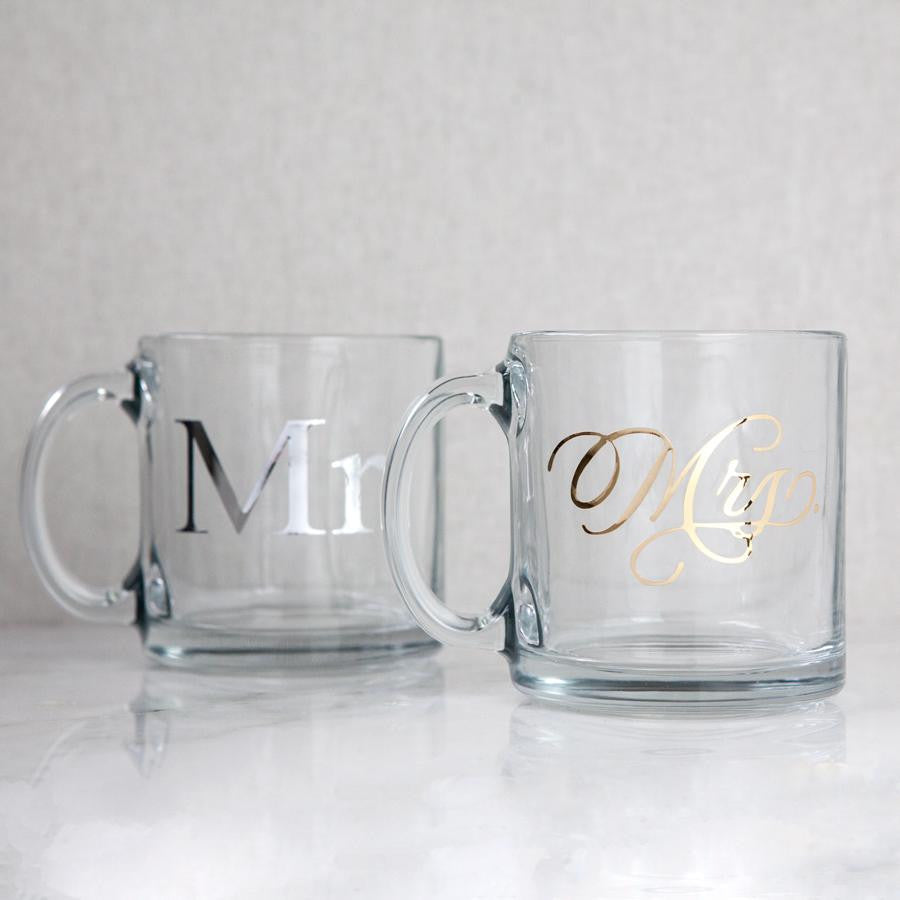 mr and mrs mugs, his and hers gifts, engagement gifts, wedding gifts, bridal shower gifts, couples gifts, wedding client gifts, corporate gifting, personalised gifts