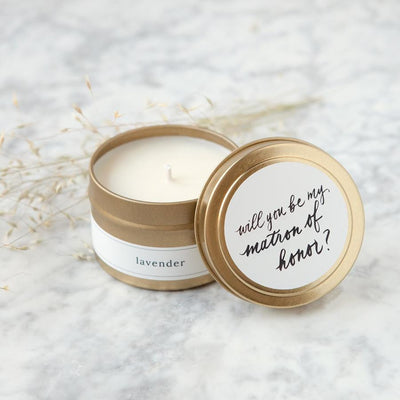 Be My Matron of Honor Travel Candle