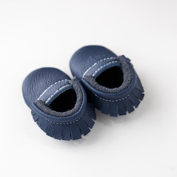 Baby Moccasins | Navy