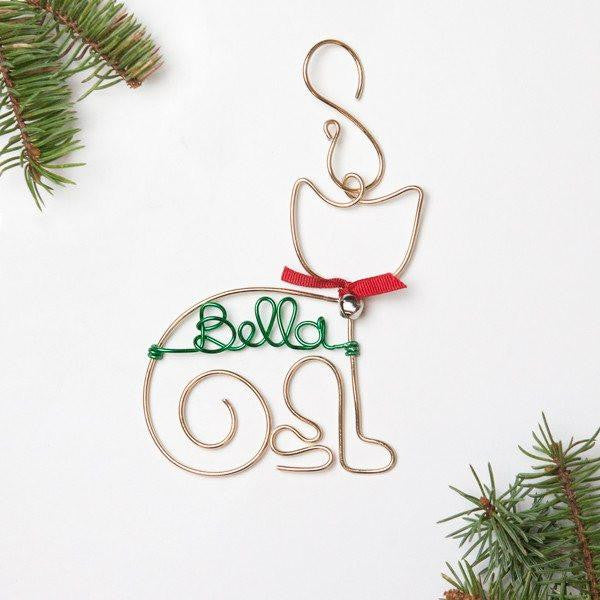 Personalized Cat Ornament, Handmade Pet Ornaments, Unique Pet Gifts, Holiday, Christmas Ornaments, Cat Gifts