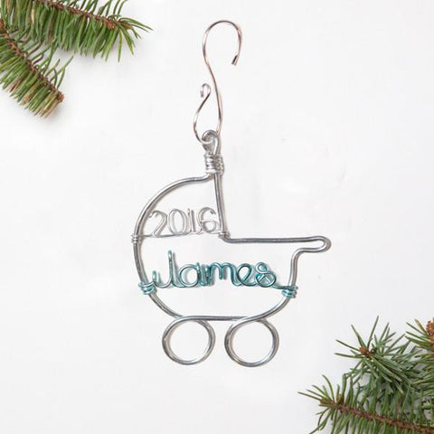 Personalized Baby's First Christmas Ornament, Handmade Christmas Ornaments, Holiday Baby Gifts