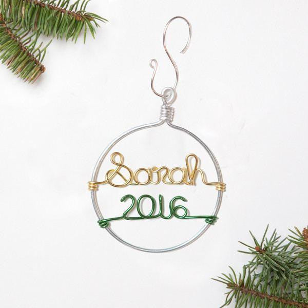 Ornament - Personalized Wire Ornament