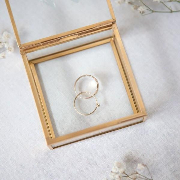 gold glass mini jewelry boxes, bridesmaid gifts, unique bridesmaid gifts