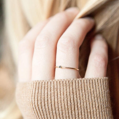 Stacking ring, tiny ring, gold ring, bridesmaid gifts, bridal gifts, initial ring, gold rings, stacking rings, minimal jewelry