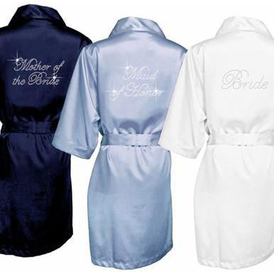 rhinestone wedding robes, bridesmaid gifts