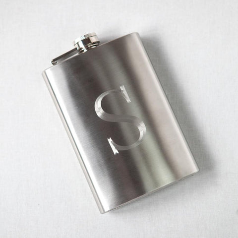 Engraved Stainless Steel Flask