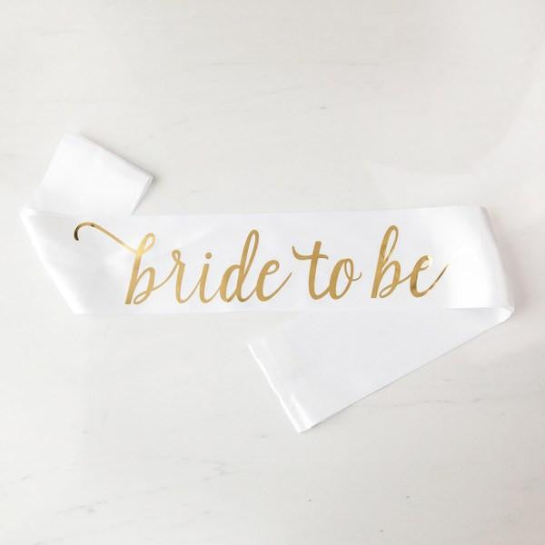 bride to be sash, bachelorette party sashes, bridal sashes, bachelorette gift ideas, bridal shower decor, bridal shower gifts, sash for the bride, gold bachelorette sash
