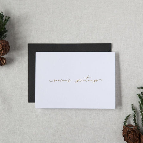 Season's Greetings Gold Foil Greeting Card