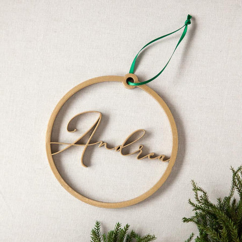 Laser Cut Personalized Name Ornament