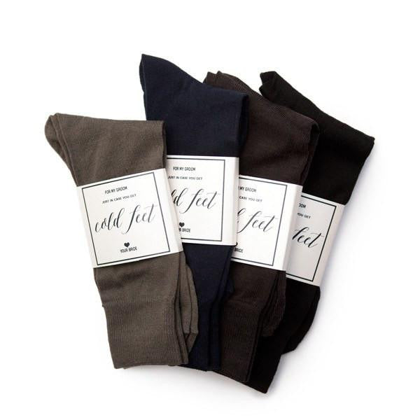 groom socks, wedding day gift, in case you get cold feet