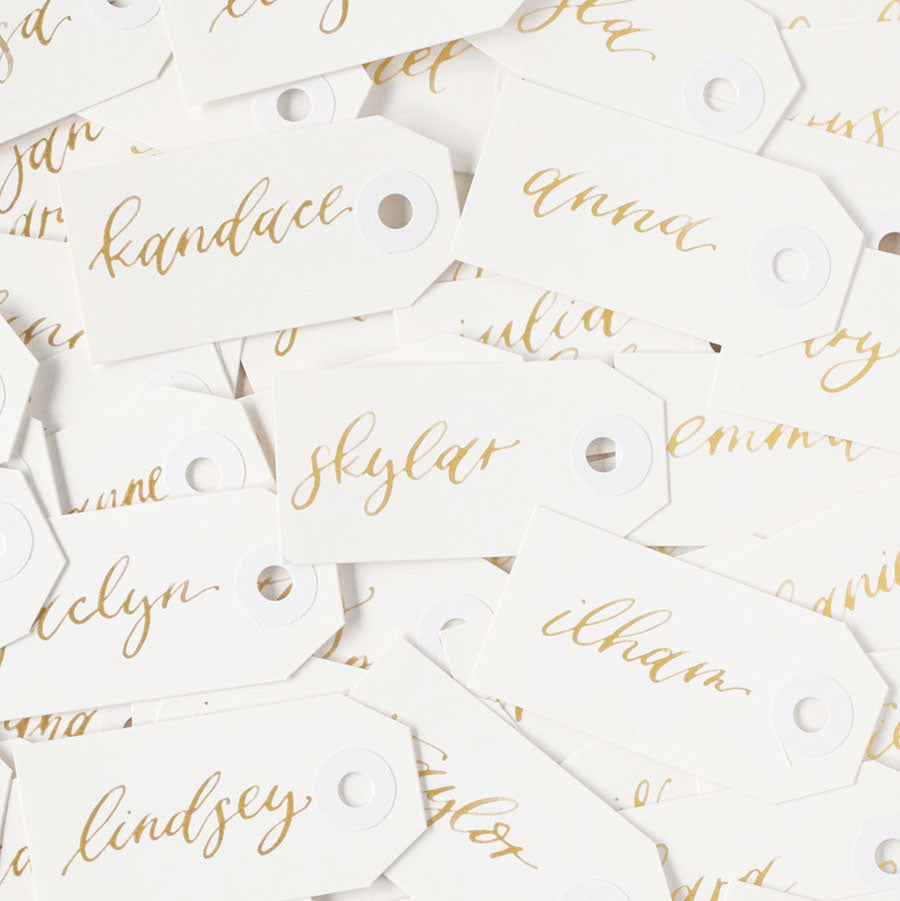 Custom Calligraphy Tag