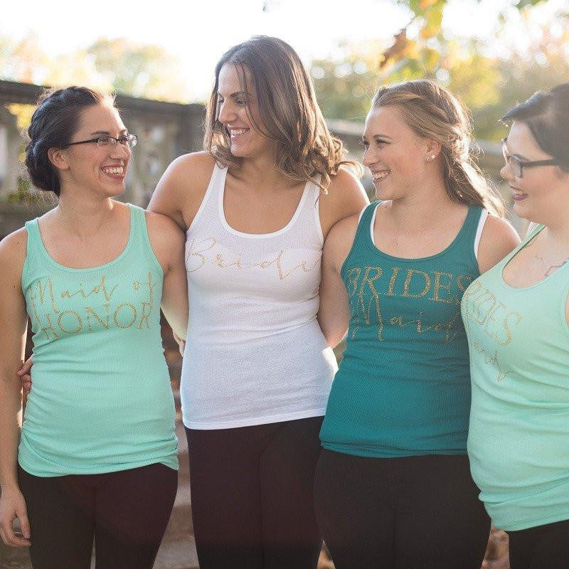 Bridesmaid Tanks, Bachelorette Shirts, Bridesmaid Gifts, Bridal Party Apparel