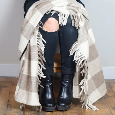 Recycled Wool Knee Blanket | Jacob Tartan