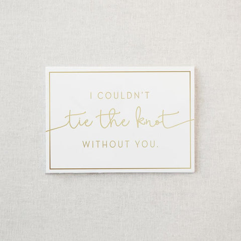 Tie the Knot Greeting Card & Envelope