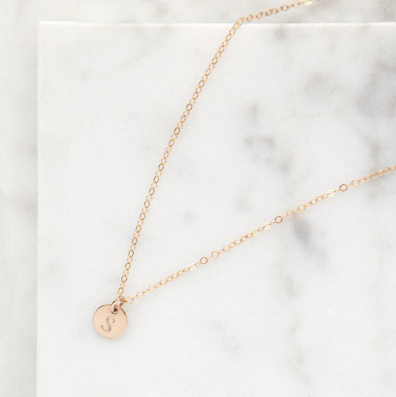 personalized initial disc necklace, minimal gold jewelry, bridesmaid gifts, gifts for her, gifts for wife, handmade, jewelry for mom, gifts for sister, gifts for aunt