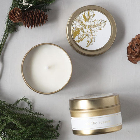 tis the season natural hand poured soy candle