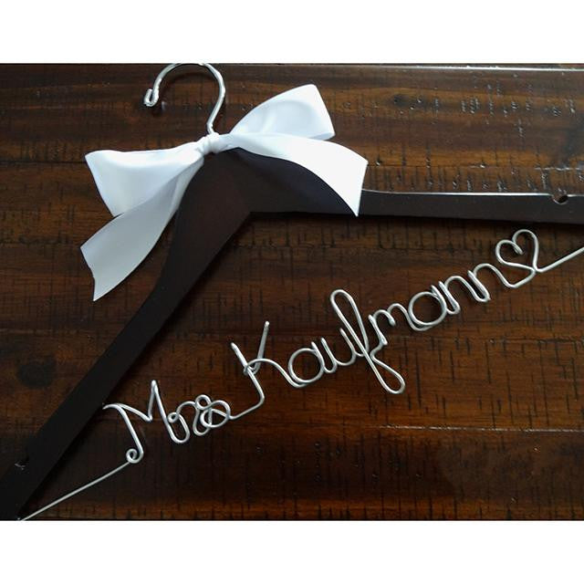 Bride Hanger with Satin Bow