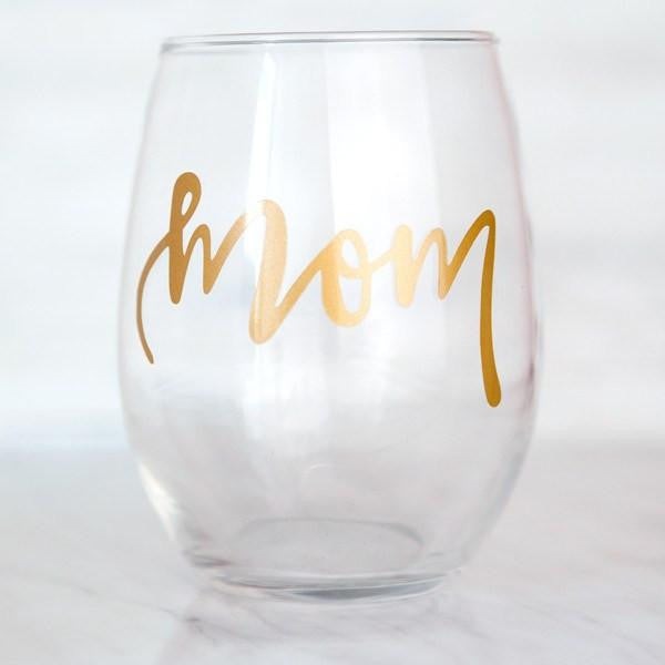 Mom stemless wine glass, gifts for mom