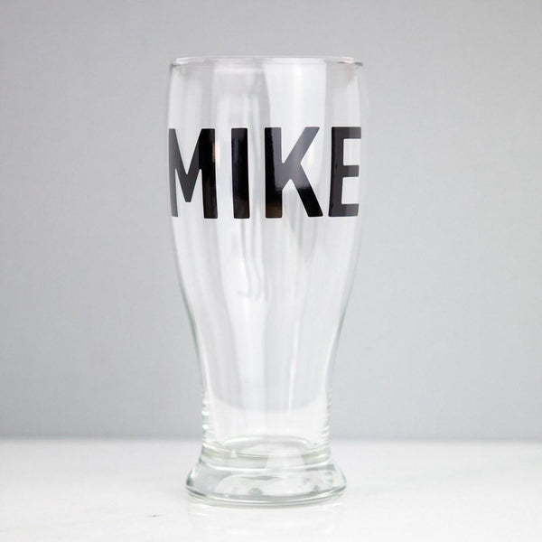 customized personalized beer pint glass, groomsmen gifts