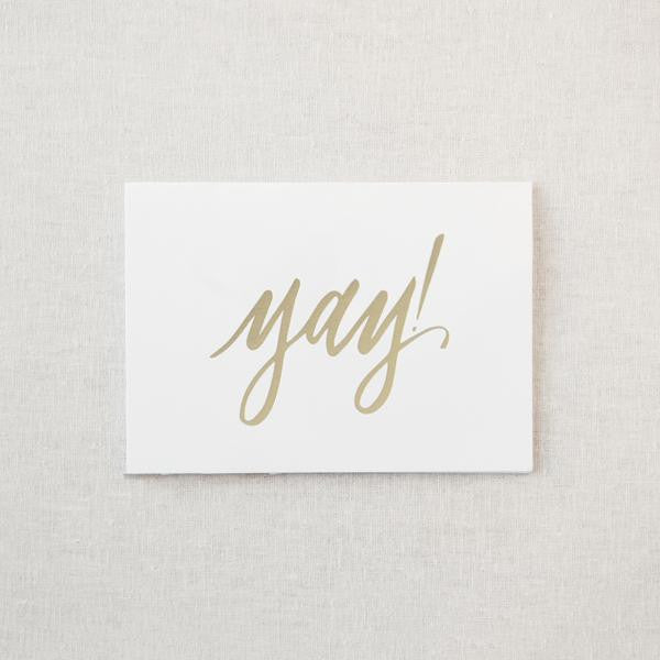 Gold Foil Greeting Card - yay!