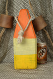 Lobster Buoy In Orange, White and Yellow
