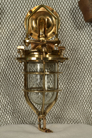 Vintage Ship's Brass Bulkhead Convoy Light