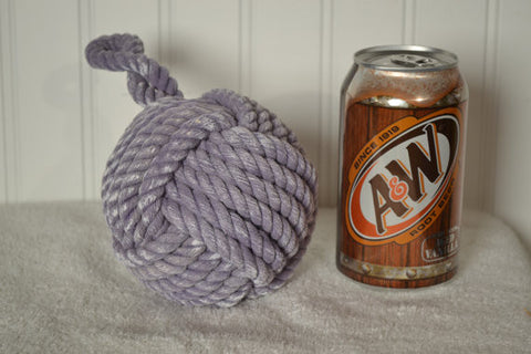 "Monkey's Fist Knot 4""  Door Stop in Purple"