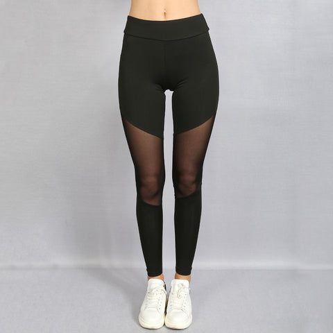 Mighty Mesh-Front Leggings
