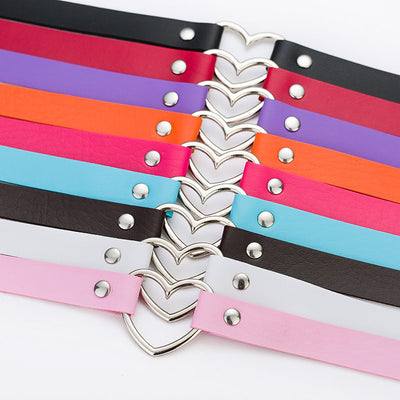 Goth Style Heart Studded Chokers