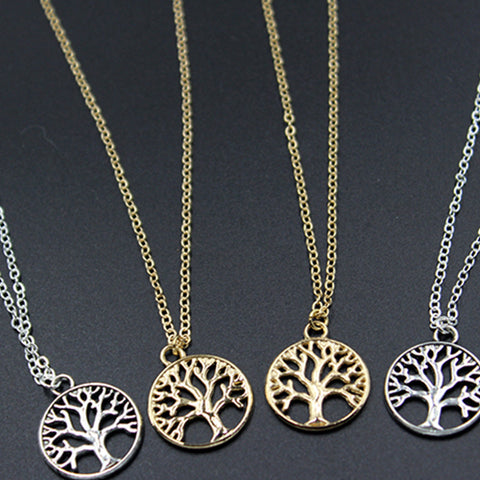 Solid Retro Tree Pendant