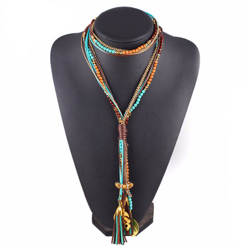 Boho WIld Beaded Necklace