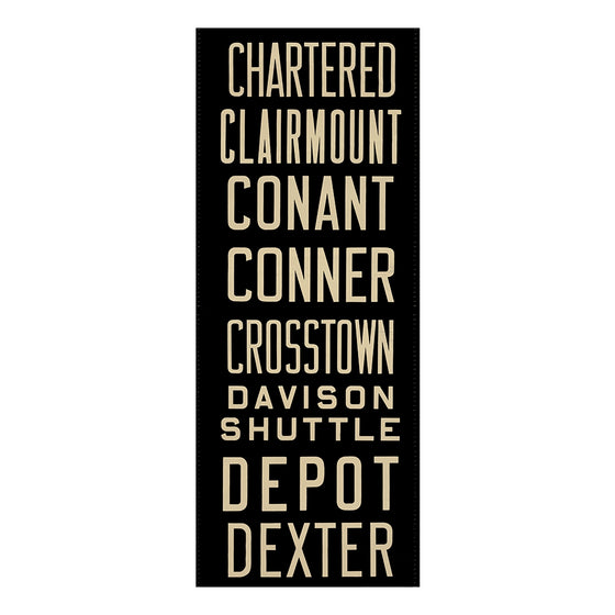 Chartered Detroit Scroll Wall Art DS11