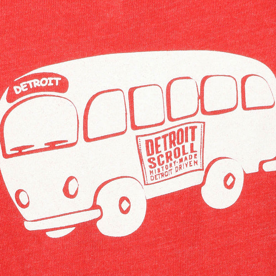 Detroit Scroll Youth Vintage Red T-Shirt