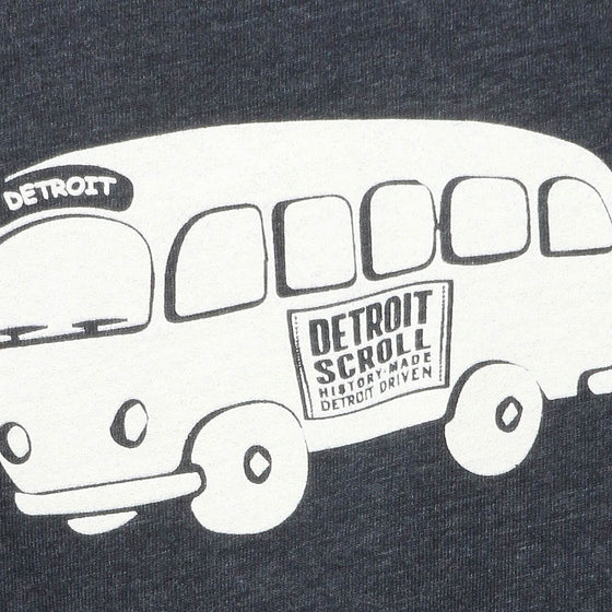 Detroit Scroll Youth Vintage Navy T-Shirt