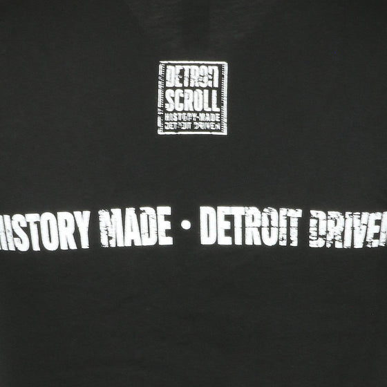 "Detroit Scroll Women's ""Told You So"" Black V-Neck T-Shirt"