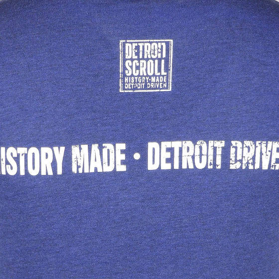 "Detroit Scroll Women's ""Around the Block"" Light Navy Tri-Blend V-Neck T-Shirt"