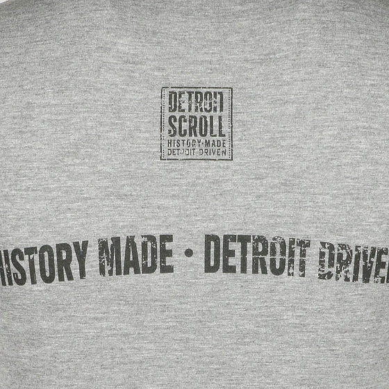"Detroit Scroll Women's ""Around the Block"" Gray Deep V Neck T-Shirt"
