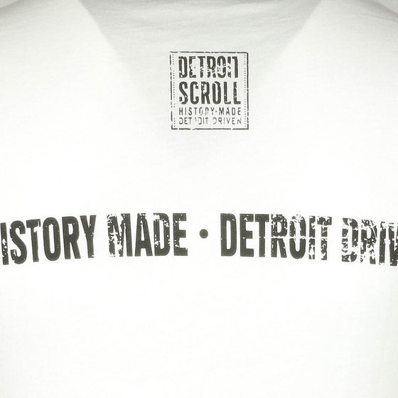 "Detroit Scroll Women's ""Told You So"" White V-Neck T-Shirt"