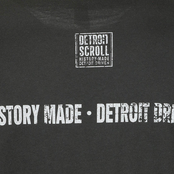 "Detroit Scroll Men's Long Sleeve ""Trolley Tracks"" Black T-Shirt"