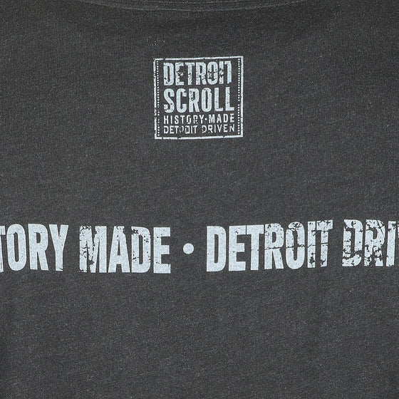 "Detroit Scroll ""Down The Road"" Charcoal V-Neck Men's T-Shirt"