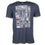 "Detroit Scroll Men's ""Tiger"" Heather Navy T-Shirt"
