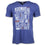 "Detroit Scroll Men's ""Around the Block"" Light Navy Tri-Blend  V-Neck Tee"