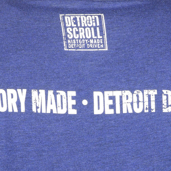 "Detroit Scroll Men's ""Around the Block"" Light Navy Tri-Blend  V-Neck T-Shirt"