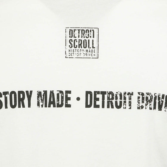 "Detroit Scroll Men's ""Told You So"" White Long Sleeve T-Shirt"
