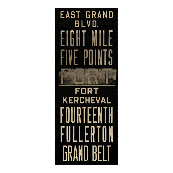 East Grand Blvd Detroit Scroll Wall Art DS12