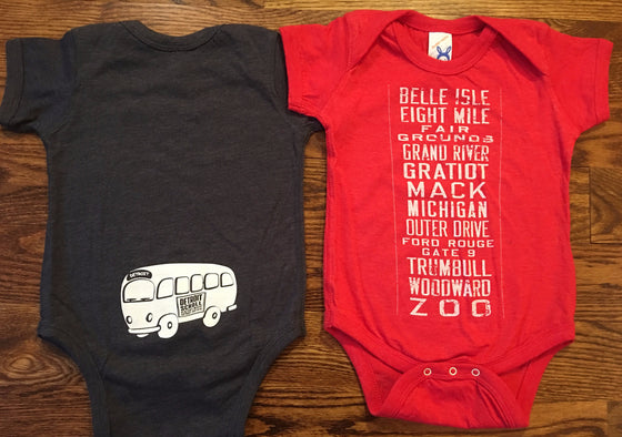 Detroit Scroll Onesies